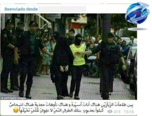 Imagen de la detención de Raja El Aasemy