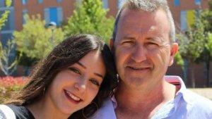 María junto a su padre José Luis, facilitada al periódico 'ABC'