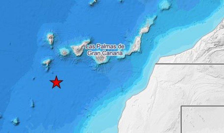 Imagen del lugar del terremoto de Canarias
