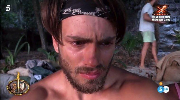 Sergio durante su ataque de ansiedad
