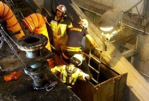 Herido un trabajador al caer en una trituradora de residuos en Muel (Zaragoza)