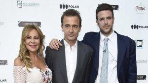 Ana Obregón, Alessandro Lequio y su hijo Álex Lequio