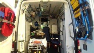 Imagen de archivo del interior de una ambulancia