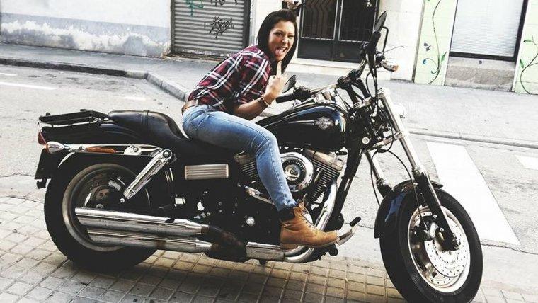 Raquel era una apasionada de las motos