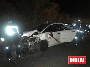 Estado del taxi que también se vio implicado en el choque