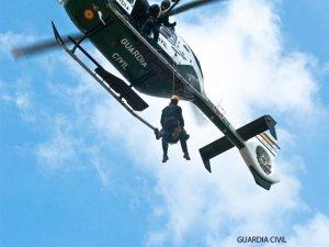 Imagen de archivo de un helicóptero de la Guardia Civil.