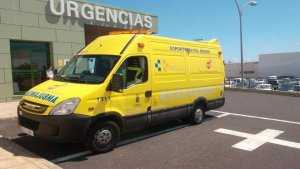 Una ambulancia del Servicio de Urgencias Canario (SUC)