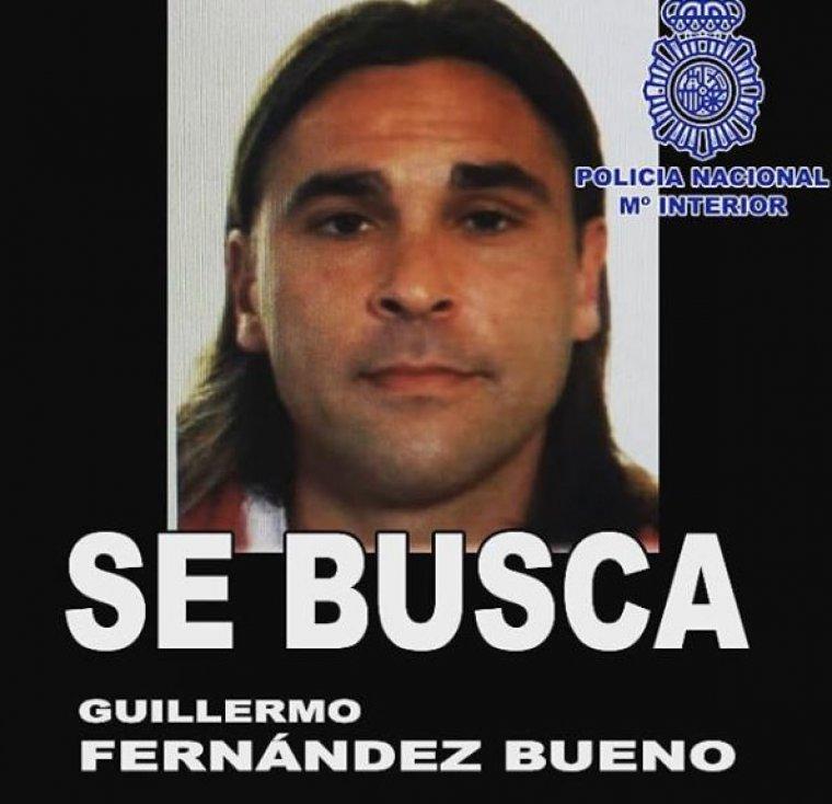 Imagen de Guillermo Fernández Bueno difundida por la Policía Nacional en redes sociales