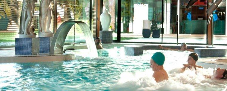 Relaxant-se a Aquum després d'una sessió de fitness al Club Eurosport