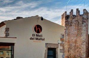 Façana del Molí del Mallol a Montblanc