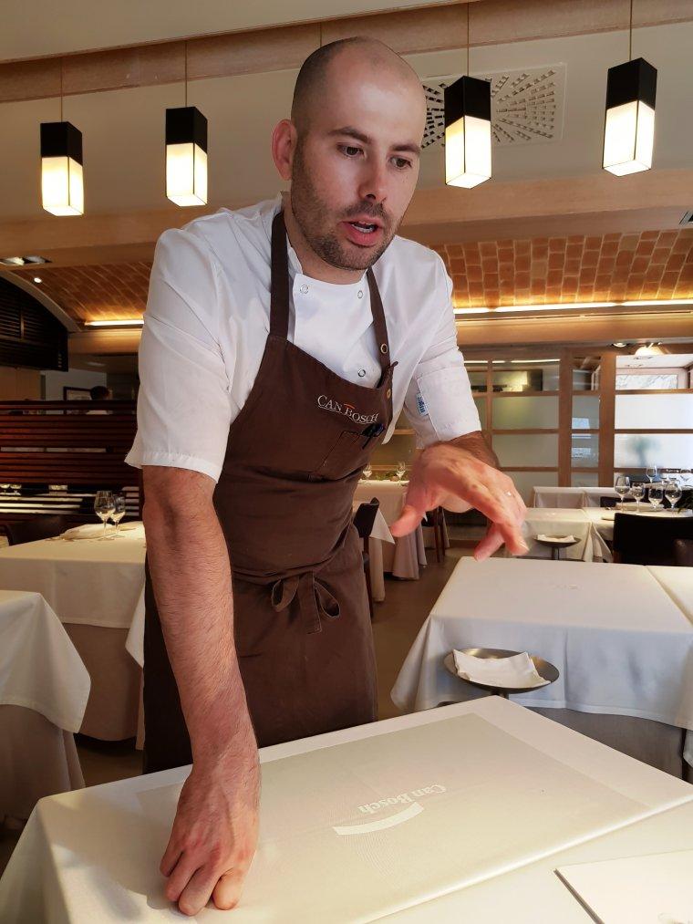 Arnau Bosch, la tercera gnració de cuiners de Can Bosch.