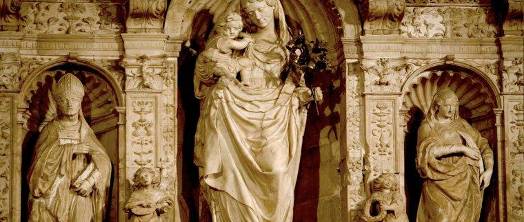 Detall del Retaule Major renaixententista de Santa Maria de Poblet
