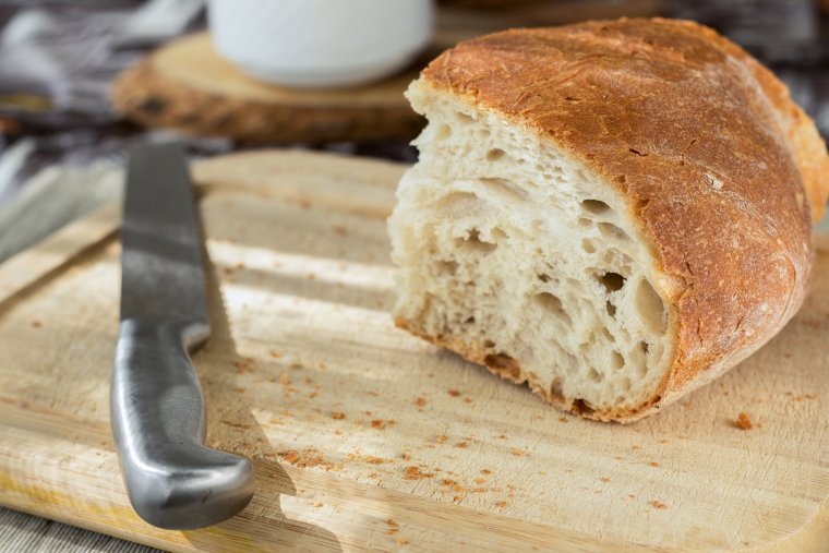 La molla de pa ullada característica del pa artesanal i de llarga fermentació.