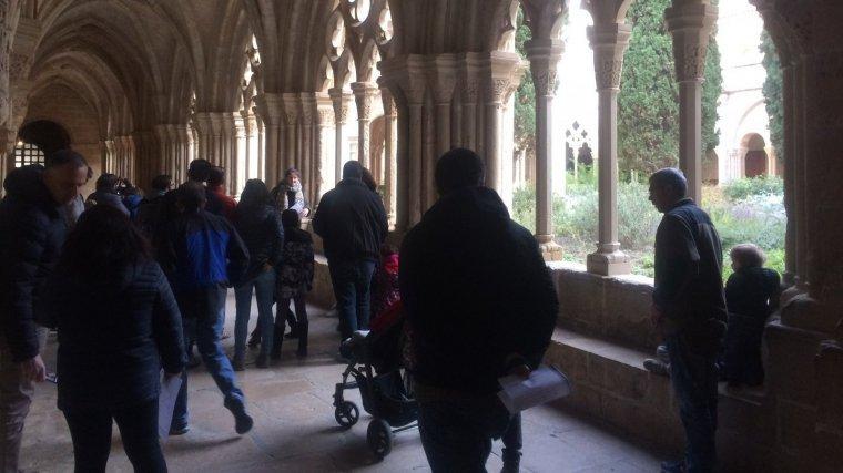 Una de les primeres parts visitades amb les famílies és el claustre, un lloc de repòs amb vegetació i una font d'aigua .