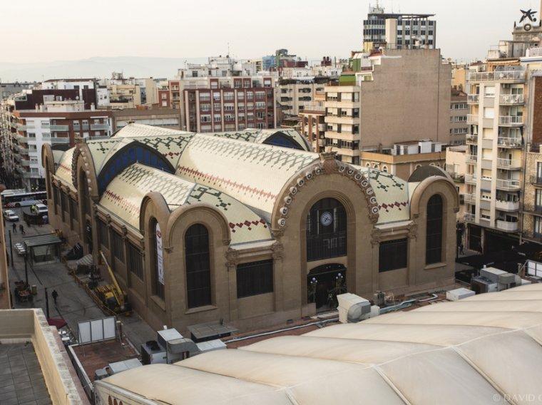 Vista aèria del Mercat Central de Tarragona