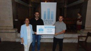 Aquest matí, a l'església de Sant Joan de Valls, la comissió ciutadana de l'orgue de Valls ha actualitzat les xifres de la campanya de mecenatge i apadrinament de tubs.