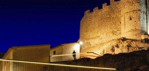 El Castell de Calafell, il·luminat.