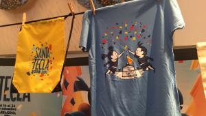Imatge de la bossa i la samarreta de Santa Tecla 2018.