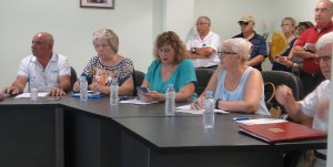 Els regidors del grup municipal d'ERC de la Bisbal.
