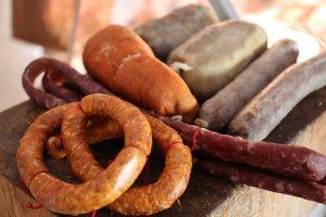 Embotits de la carnisseria Prieto d'Ulldemolins