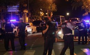 Imatge dels atemptats de Cambrils, instants després d'abatre els terroristes.