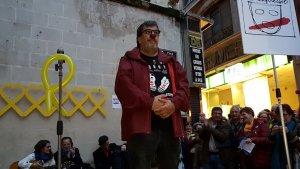 Jordi Pesarrodona, amb el nas de pallasso vermell.