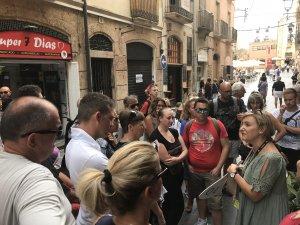 La visita dels creueristes a Tarragona