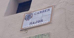 Un dels carrers que està identificat com a 'República Catalana'.
