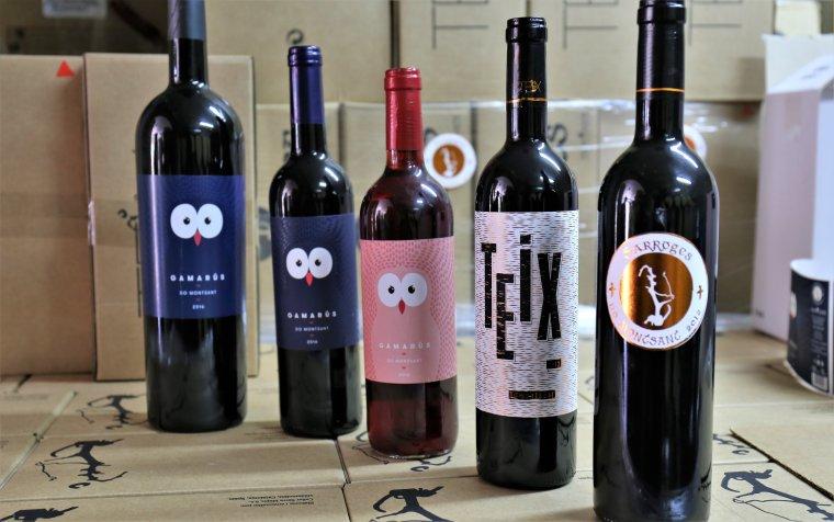 La gamma de vins del celler Serra Major d'Ulldemolins