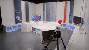 El plató d'informatius de la televisió de Reus