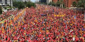 Imatge de la manifestació d'aquest 11 de setembre de 2018