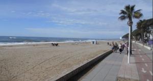 La platja de Vilafortuny a Cambrils.