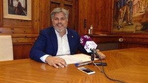 L'alcalde de Valls, Albert Batet, ha presentat les noves ordenances per l'any 2019.