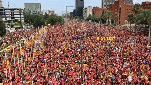 Manifestació a Barcelona aquest 11-S 2018.