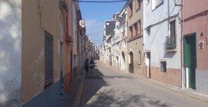 El carrer de Cristina Baixa del Vendrell.