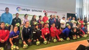Imatge durant la presentació de LaLiga Genuine 2018-2019