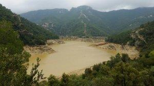 Imatge que presentava aquest cap de setmana el pantà d'Ulldecona