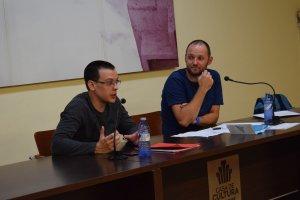 Jaume Camps i Marc Caparó durant la sessió a Ca Cosme