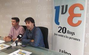 Kenneth Martínez i Ferran Trillas, presentant el cicle de conferències de l'Eina.