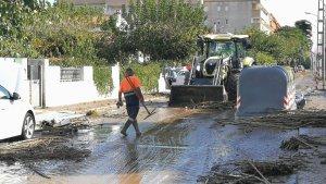 Una trentena d'afectats per les inundacions a Salou