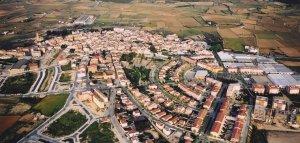 Vista del municipi de l'Arboç.