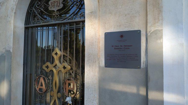 Capella on reposa el president del Parlament de Catalunya Heribert Barrera