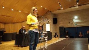 Elsa Artadi, consellera de la Presidència, ha tancat els discursos de l'acte institucional del 25-N