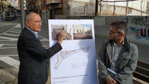 L'alcalde de Reus, Carles Pellicer, i el regidor d'Urbanisme, Marc Arza, presenten el projecte