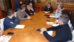 Reunió de l'alcalde i portaveus municipals amb representants de la Comunitat de Regants de Valls.