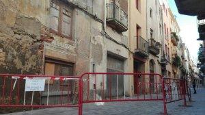 S'enfonsa una casa del barri antic de Valls