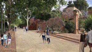 Imatge virtual del projecte del passeig de la Boca de la Mina
