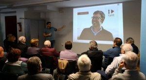 Jaume Casañas, presentant el projecte Impulsem Cunit.