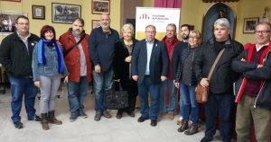 La nova executiva comarcal d'ERC del Baix Penedès.