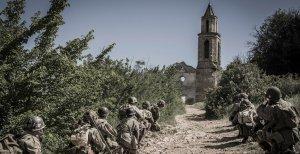 La recreació d'una batalla que s'ha fet al poble abandonat de Marmellar.